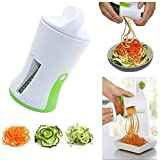 Spiralizer aux légumes - Ensemble de trancheuse en spirale - courgettes Spaghetti Maker - créer légumes Tagliatelles pour une alimentation saine et contenu faible teneur en glucides, L'ensemble comprend: éplucheur et brosse de nettoyage
