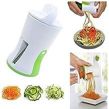 Vegetable Spiralizer–cortador en espiral Bundle–verduras Pasta para espaguetis eléctrica con pelador, cepillo de limpieza