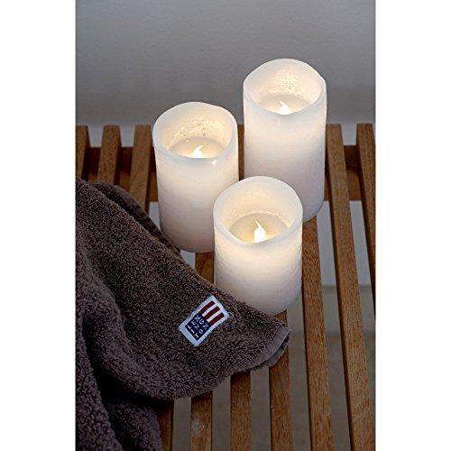 SIRIUS - Bougies LED cire blanche tenna sirius lot de 3