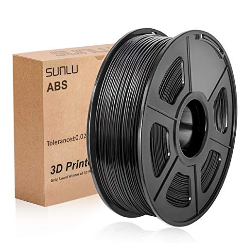 SUNLU 3D Printer Filament ABS, 1.75mm ABS 3D Printer Filament, 3D Printing Filament ABS for 3D Printer, 1kg, Black