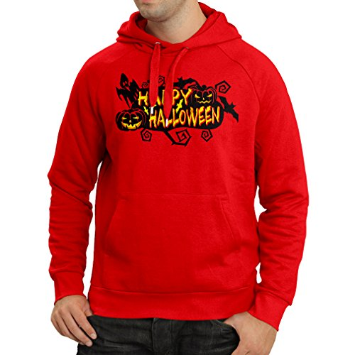 N4638H Kapuzenpullover Happy Halloween! (XX-Large Rot (The Dawn Ideen Dead Of Kostüm)