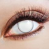 aricona Farblinsen weiße Kontaktlinsen Spezialeffekt / Zombie Kostüm Halloween