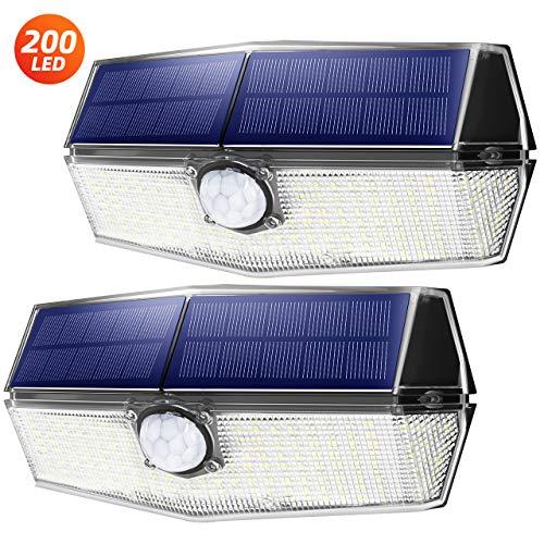 【Version Innovante】4 PACK 30 LED Mpow Lampe Solaire Etanche IPX6 Détecteur de Mouvement Panneau...