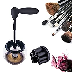 AMOGHA Makeup Brush Cleaner, Electric Automatic Makeup Brush Cleaner and Dryer Machine, Cosmetic Brush Cleaning Washing Tools Kit to Dry All Makeup Brushes In Seconds