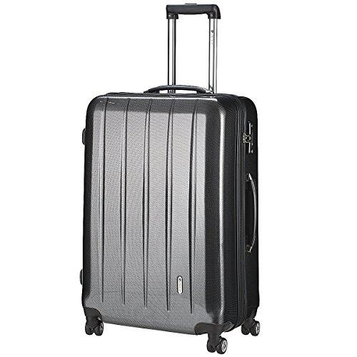 """CHECK.IN Trolley \""""London-TSA\"""", carbon schwarz, ca. 75cm/110 Liter/5,3Kg (XL, carbon schwarz)"""