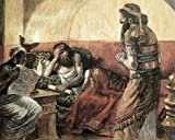 James Tissot – Museumonicles Are Read To Ahasuerus Fine Art Print (20.32 x 25.40 cm)