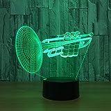orangww 3d nachtlicht für kinder / 3d lampe dekoration schreibtischlampe für kinderzimmer/touch illusion lampe/geburtstag weihnachtsgeschenke/trompete