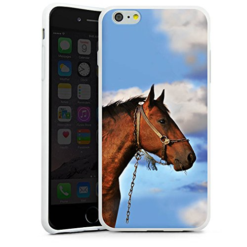 Apple iPhone X Silikon Hülle Case Schutzhülle Pferd Hengst Stute Silikon Case weiß