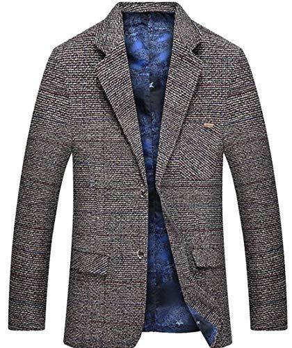 Herren Blazer Slim Fit Freizeit Anzugjacken Casual Männer Einfacher Stil Sakko EIN Knopf Stilvolle Nner Klagejacke Business (Color : Colour-1, Size : XS)