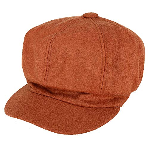 WZXSMDY Boina otoño Invierno Retro Sombrero Octagonal
