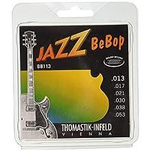 Thomastik Strings for Electric Guitar Jazz BeBop Nickel Round Wound Set BB113 Medium Light .013-.053W