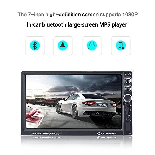 Auto MP5 Player HD 7 Zoll Dual DIN Bluetooth Anruf Radio SD Karte Stereo Unterstützung USB/TF AUX Nach dem Backup Kamera Umkehr Priorität
