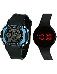 LEMONADE - Pack Of 2 Multifunction Sports Kids Watch & Unisex Digital Round Shaped LED Bracelet Band Wrist Watch...