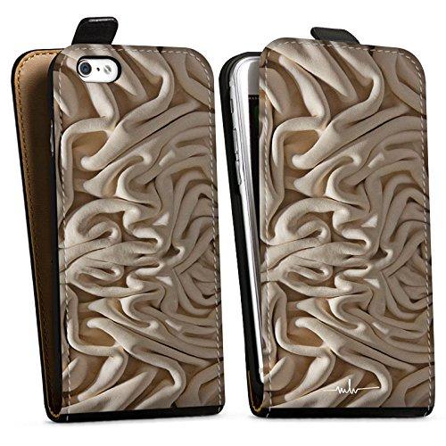 Apple iPhone X Silikon Hülle Case Schutzhülle Stoff Decke Mode Downflip Tasche schwarz