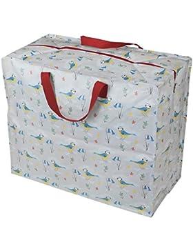 Große Aufbewahrungstasche Jumbo Bag Picknicktasche Tasche Einkaufstasche Wäschetasche Waschesack Bird pimpel