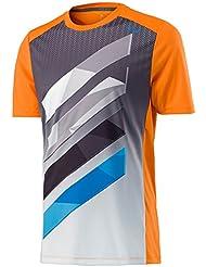 Camiseta de rayas, de Head, para niño, Niños, color naranja, tamaño S