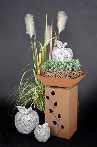 Jabo Design Rost Säule + Schale RS16 + S03 Blumensäule Rostsäulen Rost Deko rostig