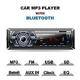 Autoradio Bluetooth, CompraFun Manos Libres Radio Estéreo de Coche, Apoyo de Reproductor MP3,...