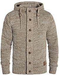 Solid Pierrot Herren Strickjacke Cardigan Grobstrick Winter Pullover mit  Kapuze und Knopfleiste ! 9884081ea8