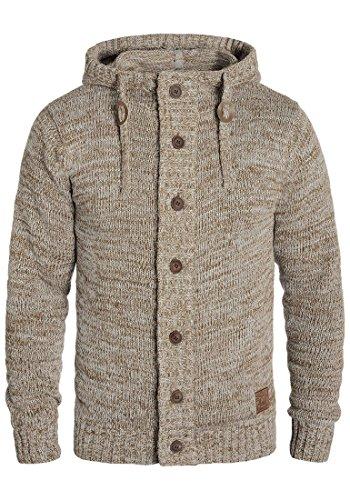 !Solid Pierrot Herren Strickjacke Cardigan aus 100% Baumwolle Meliert, Größe:XL, Farbe:Dune (5409)