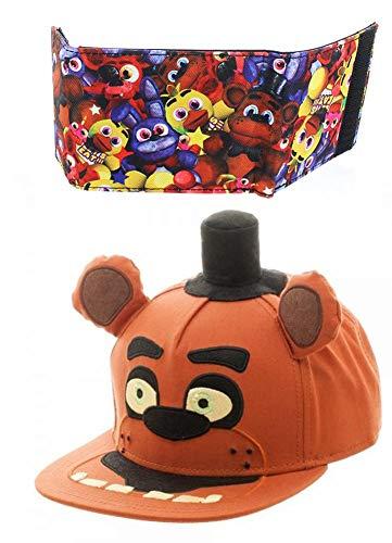 Five Nights at Freddy's Snapback Hat and Bi-Fold Wallet Bundle