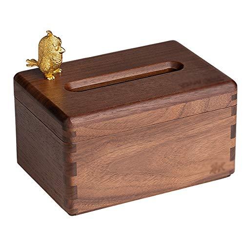 Caja Cm De Negro 19x13x15 Maciza Pañuelos Papel Madera Tissue Jun Box Sala Estar 3 Bandeja Nogal Hogar OZiuPkX