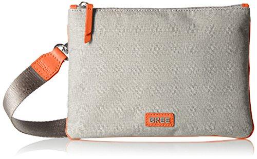 BREE Damen Limoges 6 S17 Clutch, Mehrfarbig (Light Grey/orange), One Size