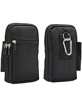 Umhängetasche Kleine, Phone Tasche Rosa Schleife Praktische Tactical Wasserabweisende Hüfttasche Handy Tasche...