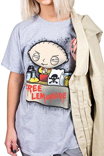 Cosmic Saint Herren T-Shirt Grau Grau Gr. Medium, Grau (Stewie T-shirt Männer)
