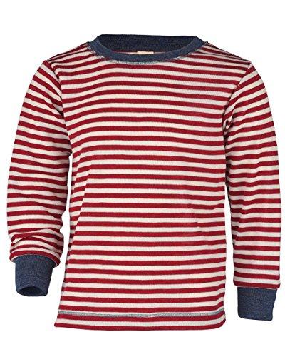 Engel Natur, Kinder Shirt / Pullover, 100% Wolle (kbT) (92, Rot melange/Natur)