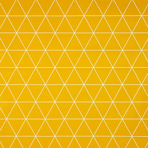 Ocra giallo geometrico triangoli in vinile pvc tovaglia in rotondo, quadrato o rettangolare, round 140cm (55