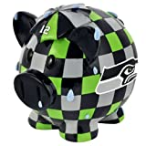 Forever Collectibles Nfl Seattle Seahawks Resin Large Thematic Piggy Bank