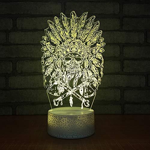 eborene Mas 3D Kleine Nacht Lichter Kreative Bunte Touch Led Lichter Smart Home Control 3D Lampe ()