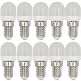 MENGS® 10 Stück E14 2W LED Kühlschrank Birne Lampe AC 220-240V Warmweiß 3000K 8x2835 SMD Mit PC Mantel