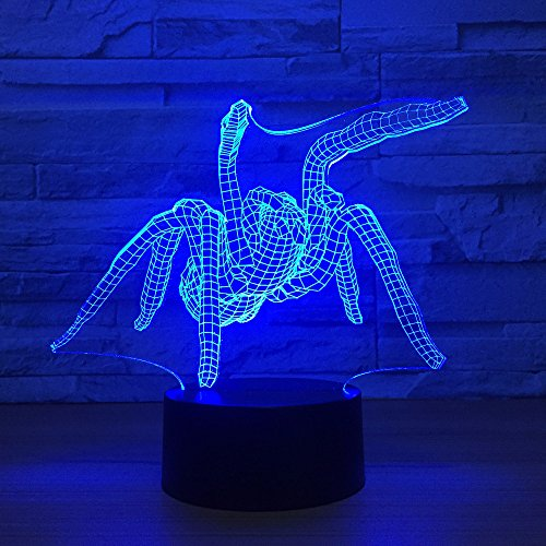 3d spinne led schreibtisch tischlampe usb 3d nachtlichter 7 farbe usb 3d illusion lichter für wohnzimmer dekorative lampe atmosphäre lampe - Glühbirne Und Steckdose Kostüm