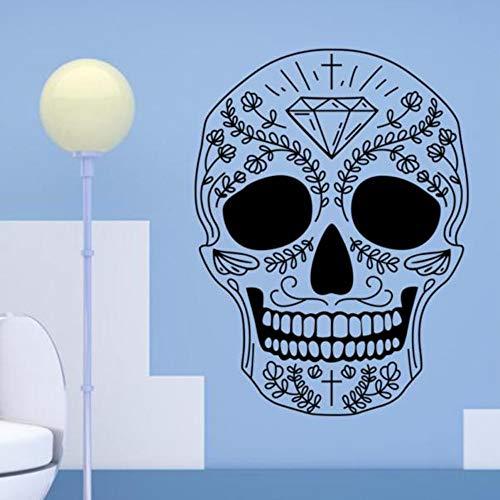 Jixiaosheng Halloween Skelett Hintergrund Dekoriert Wohnzimmer Schlafzimmer Wandaufkleber58 * 78 Cm (Tierische Skelette Für Halloween)