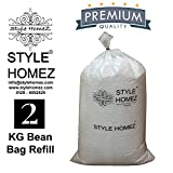 #8: Style Homez 2 Kg Premium Bean Bag Refill for Bean Bags