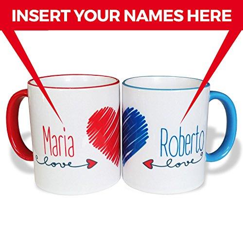 Coppia Tazze Mug personalizzate