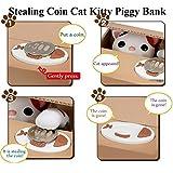Peradix Gelddose Diebstahl Katzen Elektronische Spardose witziges Geschenk für Kinder (Weiß-Katze) - 4