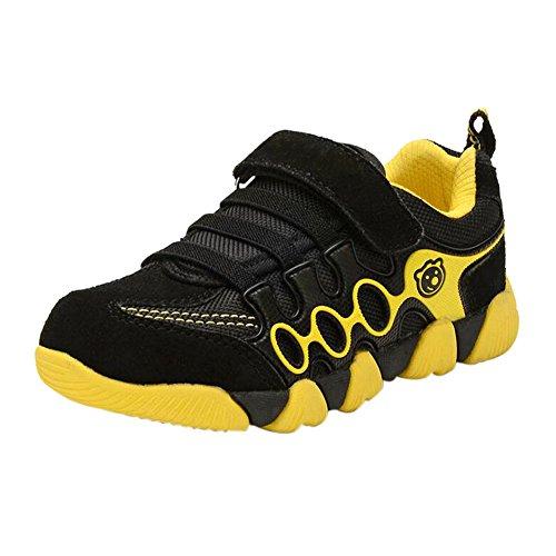 Haodasi Kinder Kids Jungen Mädchen New Schrubben Running Schuhe Breathable Casual Sport Turnschuhe Black