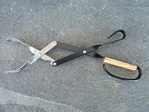 V-Tong Zange 43 cm mit Walnussholzgriff