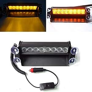 usun 8 led amber car wind dash strobe emergency flashing warning visor light bulb for interior. Black Bedroom Furniture Sets. Home Design Ideas