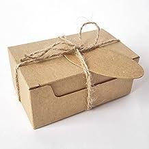 50 cajas de papel kraft para jabón, con cordel y etiquetas