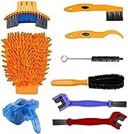 9PCS Kit de Cepillo de Limpieza de Bicicletas, Herramientas de Limpieza para Bicicleta de Montaña, Urbanas, de