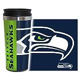 Boelter Brands NFL Seattle Seahawks Hype Travel Tumbler, 16-ounce, Blue
