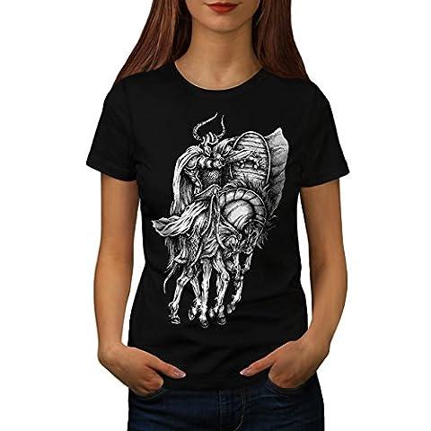 Vieux guerrier Cheval sport Femme L T-shirt | Wellcoda