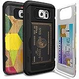 Funda Samsung Galaxy S6 [TORU CX Pro] Carcasa Galaxy S6 , Funda cartera tarjetero, estuche práctico, original, de calidad premium y discreto, [protección antigolpes] [Funda rígida con espejo] [soporte multimedia] para Samsung Galaxy S6 - Wood Geo