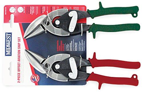 Midwest Werkzeug und Besteck mw-p6510C Snips Geschmiedete Klinge versetzt Aviation Blechschere Set, 2-teilig -