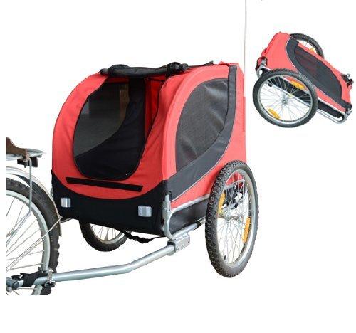 pawhut-carrellino-rimorchio-per-cani-animali-domestici-da-bicicletta-rosso-e-nero-130-x-90-x-110cm