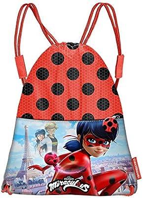 Karactermania Ladybug Marinette Bolsa de cuerdas para el gimnasio, 35 cm, Rojo